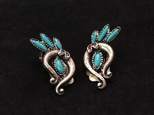 Turquoise 8.5g Clip-On Earrings Silver Plated - Pebble Faux
