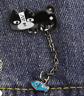 Cat Brooch Pin Badge Cat Lover Gift Chain Fish Jewellery Gift Enamel Silver New