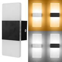 Led Wall Light Up Down Cube Indoor Outdoor Sconce  Lighting Lamp Fixture DecorLY