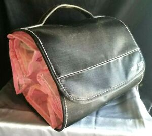 NEW Mary Kay Hanging Roll Up Cosmetic Travel Bag 4 detachable clear pouches