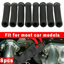 8Pcs For LS1/LS2 2500° Spark Plug Wire Boots Protector Sleeve Heat Shield Cover