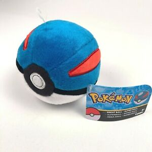 Pokemon Plush Pokeball Great Ball Super Ball 6 Inch Beanbag Toy Official Tomy