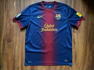 FC BARCELONA FOOTBALL SHIRT 2012-2013 ORIGINAL JERSEY SIZE L