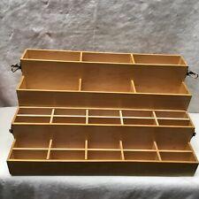 Kate Spade Natural Wood Chest Stationary Crafts Paper Art Display Case Desktop