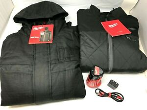 Milwaukee 255B-21M M12™ Axis™ , 12 V, Heated Jacket , Men's , Black , M