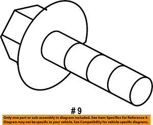 CHRYSLER OEM Brake-Front-Caliper Mount Bracket Bolt 6509456AA