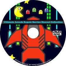 Ultimate Arcade Repair Service Manual Collection DVD Schematics DIP pdf CD