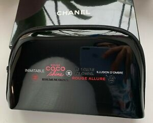 CHANEL COSMETIC/MAKEUP BAG POUCH CLUTCH black VIP GIFT