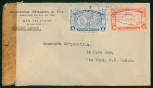 Mayfairstamps El Salvador Alfonso Molina Co Rawmexim Corp Map Cover wwp_64439