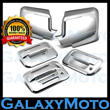 04-08 Ford F150 Chrome Mirror+2 Door Handle+keypad+no PSG keyhole+Tailgate Cover
