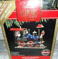 HALLMARK Keepsake 1991 SANTA SPECIAL Train CHRISTMAS ORNAMENT Motion SOUND VTG