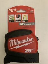 Milwaukee 25FT 12' Standout Compact Tape Measure 48-22-0425 2-Sided Printing