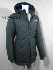 NWT NIKE NFL Los Angeles Chargers On Field 550 Down Parka Jacket Gray size L