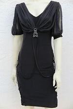 NWT Balizza Black 100% Slinky Silk Dress Size 36
