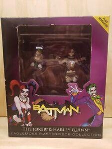 Eaglemoss masterpiece collection Batman Joker & Harley Quinn limited edition