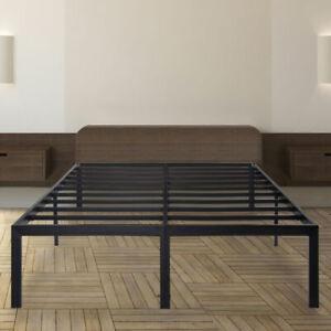 GranRest OLW18BF04K Dura Steel Slatted Bed Frame, Size King - Black