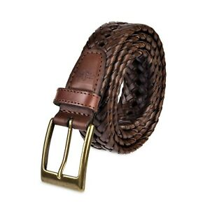 Dockers Men's 1 3/16 Inches Faux Leather Braided Belt