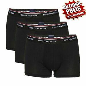 Tommy Hilfiger Boxer Short Herren 3er Pack trunk schwarz