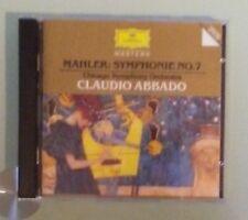 chicago symphony orchestra / claudio abbado MAHLER SYMPHONIE NO 7  CD