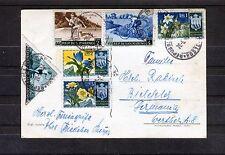 Postal decorativa con mischfrankatur san marino-b0442