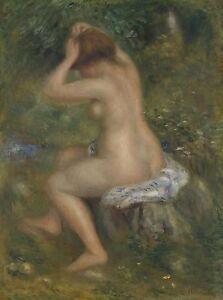 "PIERRE-AUGUSTE RENOIR Canvas or Poster Print ""A Bather"""