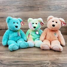 "2000 TY BEAR 14"" BEANIE BUDDIES LOT Of 3 COLOR VARIATIONS"