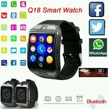BLACK TOUCH SCREEN BLUETOOTH SMART Orologio da polso D18 per Android mobies & iPhone
