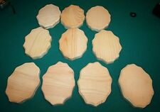 """Lot of 10 Wood PINE Plaque Boards Unfinished 6""""x4"""" Bevel Edge"""