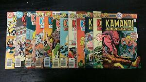 1976 DC COMICS LOT OF (12) KAMANDI #35-52 MIXED GRADE VINTAGE SET