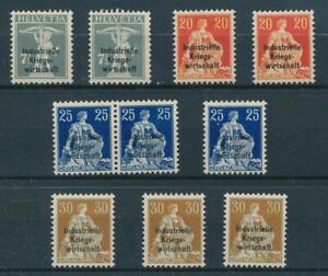 [30767] Switzerland 1918 Official Good lot Very Fine MH stamps