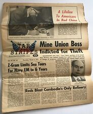 Pacific Stars And Stripes 1971 Newsletter Pow Protest Mine Union Boss Indicted