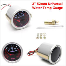 Universal 2'' 52mm Vehicle Car LED Water Temp Temperature Gauge Meter Smoke Lens