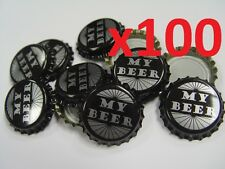 100 MY BEER Home Brew Bottle Crown Caps 26mm Very Good Seal Quality FAST P&P