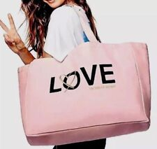 VICTORIA'S SECRET LOVE SEQUIN TOTE WEEKENDER BAG LARGE NEW