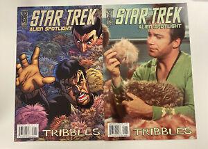 IDW: STAR TREK: ALIEN SPOTLIGHT: TRIBBLES: NM CONDITION: A & B (PHOTO) COVERS