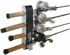 Vertical Fishing Rod Holder w/ Rubber Grommets & Straps - Holds up to 8 rods