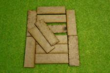 80mm x 25mm LASER CUT MDF 2mm Wooden Bases for Wargames