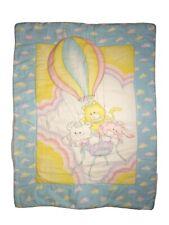 The PUFFALUMPS Fisher Price Baby Crib Comforter Blanket Hot Air Balloon VTG