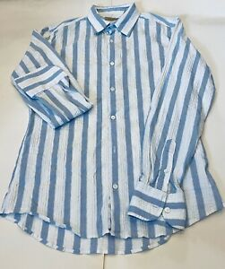 Awesome TED BAKER SHIRT TOP STRIPED MADE IN PORTUGAL ORIGINAL PREMIUM size 5 Men