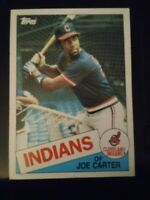 1985 Topps Joe Carter RC Cleveland Indians #694 NM Baseball Card Rookie