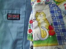 Women's Cherokee Scrub Set with Kitties. Medium.  Kitties, Cats, Blue Pants