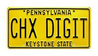 The Goldbergs | Marvin's DeLorean | CHX DIGIT | Metal Stamped Prop License Plate