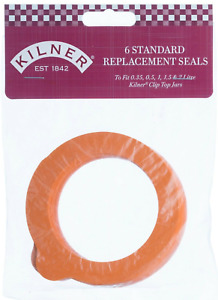 Kilner Clip Top Jar Replacement Rubber Seals pack of 6, Genuine Kilner brand