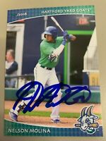 Nelson Molina 2018 Hartford Goats Signed Team Card