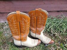 Vtg Cowboy Boots Leather Sole 6.5 A Womens western vintage wing tipped