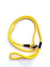 Spliced Rope Slip Lead 8mm In Yellow  Working Gun Dog, Field Trail, Agility