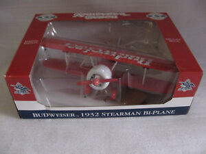 1993 Liberty Spec Cast Anheuser Busch 1932 Stearman Biplane Die Cast Metal Bank