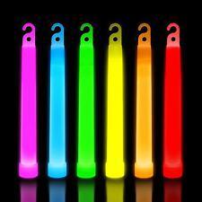 6 inch Glow Sticks Premium Neon Mixed Colour Party Decoration Accessories