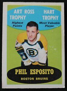 1969-70 OPC Art Ross Trophy - Phil Esposito #205 Boston Bruins Misprint (MK)