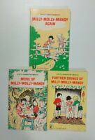 Milly Molly Mandy x 3 Again - More Of - Further Doings - Joyce Lankester Brisley